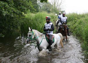 160k rider at water crossing