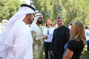 HH Sheikh Mohammed with Lara Sawaya
