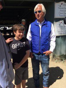 Bob Baffert and son